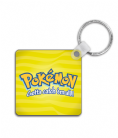 Pokemon Gym Leader Personalised Square Metal Keyring Inspired by Sword & Shield